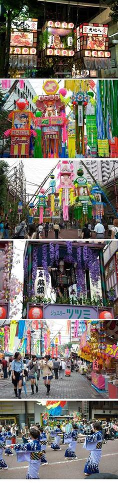 The Shonan Hiratsuka Tanabata matsuri in Hiratsuka celebrates Tanabata or the star festival. It is held in the summer every year on July 7th which is the seventh day of the seventh lunar month of the old lunisolar calendar. It lasts for four days ending with a large parade on the 10th .