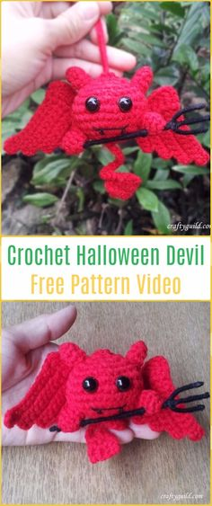 Crochet Halloween Devil Free Pattern -Crochet Halloween Amigurumi Free Patterns