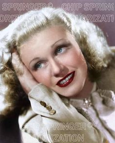 GINGER ROGERS IN A 3 BUTTON COAT 8X10 BEAUTIFUL COLOR PHOTO BY CHIP SPRINGER. Featured Ebay Listing. Please visit my Ebay Store, Legends of the Silver Screen, at http://legendsofthesilverscreen.com to see the current listings of your favorite Stars now in glorious color! Thanks for looking and check out my Youtube videos at https://www.youtube.com/channel/UCyX926rA5x4seARq5WC8_0w
