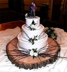 Rustic theme wedding cake Cakes By Lori The Knot Best of Weddings 2013 winner!! - Home - champaign, IL