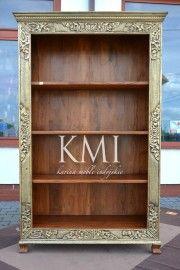 biblioteczka zdobiona mosiądzem #mebleindyjskie orientalne dekoracje http://karinameble.pl/pl/p/biblioteczka-Bindi-MA-615/3740