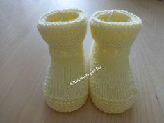 CHAPITRE 18 - Faire des bottons (chaussons bébé). Modèle gratuit.