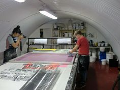 Printing with Susie Lau of stylebubble.co.uk. Insley & Nash.