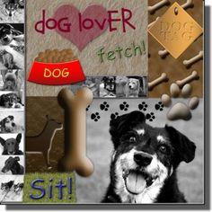 scrapbooking layout   dog scrapbooking ideas