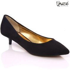Afier pointed toe Slipon with kitten heel shoes mended with synthetic material are a popular part of daily base fashion gives you comfort and easiness while walking at either place.