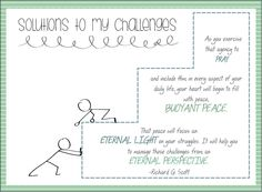 Finding Solutions to my Challenges | Handout and object lesson