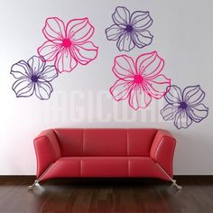 Graceful Flowers - Wall Decals Stickers