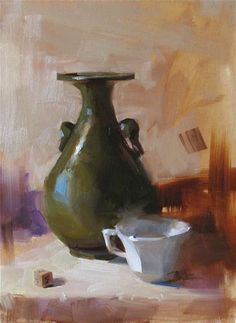 """""""Demo at home 2012 - Original Fine Art for Sale - © Qiang Huang Painting Still Life, Still Life Art, Artist Gallery, Fine Art Gallery, Fashion Painting, Elements Of Art, Art Techniques, Beautiful Paintings, Painting Inspiration"""