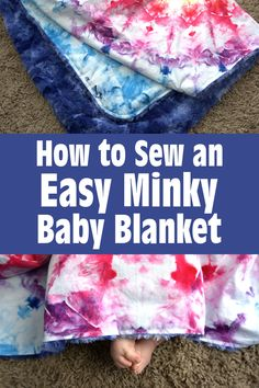 How to sew a quick and easy minky baby blanket