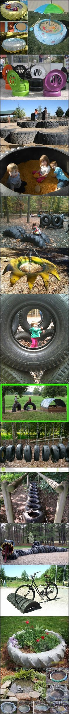 10-ways-to-reuse-old-tires#diy #recycling