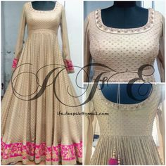 Anarkali ensemble by IFE. For questions & customization, contact: ife.deepak@gmail.com (#luxuryvintage #wedding #indianfashion)