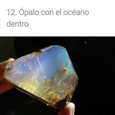 Ocean inside the opal. It's called Luz Opal. Very neat! Minerals And Gemstones, Rocks And Minerals, Sunset Fire Opal, Mineral Stone, Rocks And Gems, Healing Stones, Stones And Crystals, Diamond, Healing Crystals