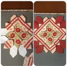 Drawing the pattern on  your templates helps with fussy cutting...EPP by  Lisa Egan