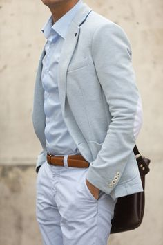 Love the subtlety of color between his sport coat and shirt. Style For Men on Tumblr www.yourstyle-men.tumblr.com VKONTAKTE -//- FACEBOOK -//- INSTAGRAM