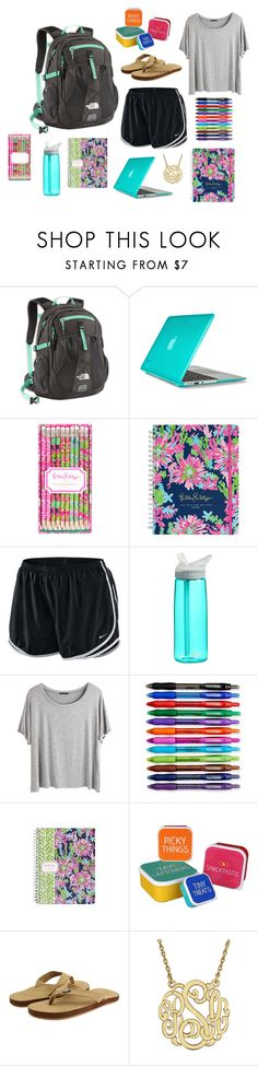 """""""Final Exams and Studying"""" by jasminevargas06 ❤ liked on Polyvore featuring The North Face, Speck, Lilly Pulitzer, NIKE, CamelBak, Chicnova Fashion, Paper Mate, Happy Jackson and Vineyard Vines"""