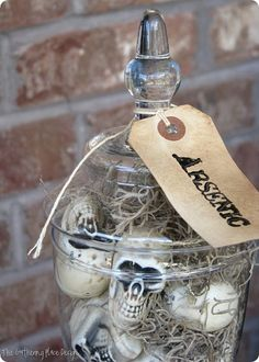 Mini Skulls Apothecary Jar - Knock Off Decor
