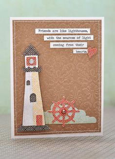 Friends are like lighthouses #Cricut