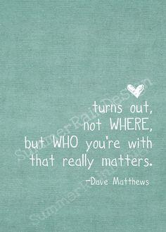Dave Matthews song lyric print  best of what's by SummerRainDesign, $9.00
