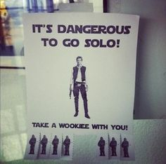 This could be a great idea to ask a Star Wars lover to a dance! Make yourself one of the wookies!