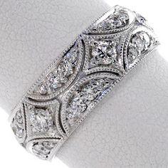 A diamond filigree ring