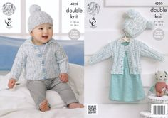 King Cole Double Knitting Pattern - Childrens Cardigans & Hats (4320) - Mill Outlets