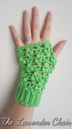 CLover Puff Fingerless Gloves - The Lavender Chair