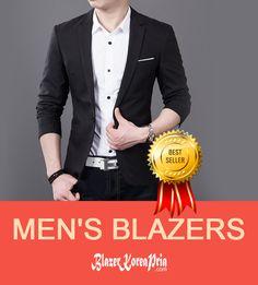 Blazer pria korea model model formal, casual dan elegan. Blazer pria dari bahan jet black kualitas premium
