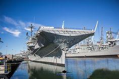 USS Hornet CV-12 Alameda CA Uss Hornet Cv 12, Yacht Boat, United States Navy, Aircraft Carrier, Tower Bridge, Boats, Nostalgia, Ships, Military