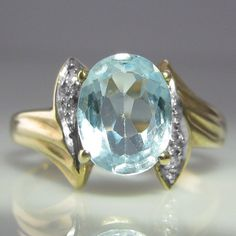 #Blue #Topaz & #Diamond #Ring €359 #Engagement #Jewelry #The #Antiques #Room #Galway #Ireland My Engagement Ring, Engagement Jewelry, Gemstone Colors, Gemstone Rings, Blue Topaz Diamond, Galway Ireland, Beautiful Rings, Jewlery, Rings For Men