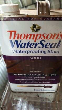 This is the waterproof stain and sealer I used. Nice color.