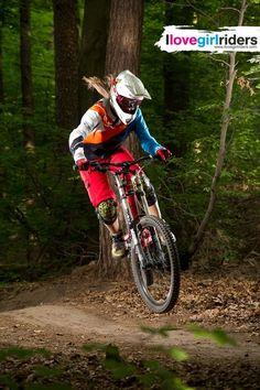 "Stephanie ""Flying"" - Rider: Stephanie Engeler - Photo: Geared Tales - #ilovegirlriders #iamagirlrider"