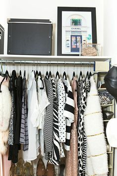 02498a5c3c16 Closet in a Studio Apartment    Tiffany Leigh s Toronto Studio Tour   theeverygirl
