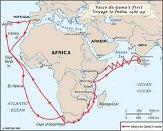 Vasco da Gama's first voyage to India