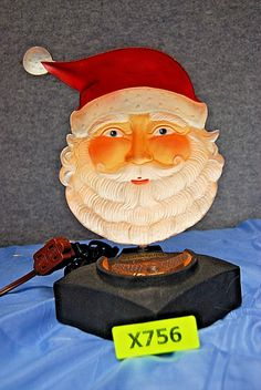 "Vision Quest Sculptures ""SANTA CLAUS"" Lamp Up for sale here is a ""Vision Quest Sculptures 'SANTA CLAUS' Lamp"". We call this new age of entertainment lighting - Motion Sculptures Real and illusive, beyond our limitations and into the realms of o Vision Quest, Creepy, Sculptures, Santa, Entertainment, Age, Lighting, Imagination, Lights"