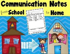 Included are different communication notes you can use to send home.  There are notes for positive and negative behaviors.  These are great to keep the lines of communication open between school and home!Check out the preview for a closer look at what's included!Update: This now includes a PDF file AND an editable file.