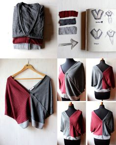 Original up cycling of old sweaters and cardigans