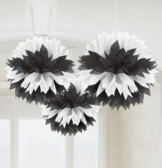 These Black & White Fluffy Decorations will add some classic colors to your…