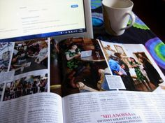 Reading women´s magazine in peace and quiet this morning: sunday at home.