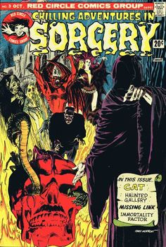 Chilling Adventures in Sorcery #3, October 1973. Archie Comics. Cover art by Gray Morrow.