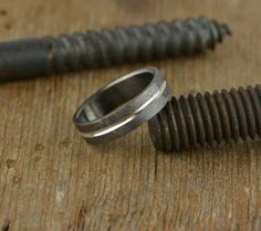 Mens Wedding Band 6mm Width Recycled by PointNoPointStudio on Etsy