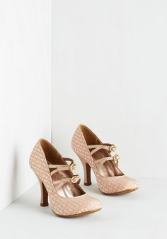 Pump Up the Glam Heel. When you step on stage, the crowd will clamor over the glamour of these Mary Jane pumps!
