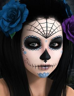 23 best sugar skull halloween makeup ideas - Halloween Day Of The Dead Face Paint