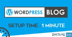 Does creating your own #WordPress  blog in 1 minute sound #incredible  to you? Then read our new #blog  & learn how you can do it :)  https://blog.znetlive.com/how-to-create-a-blog-using-wordpress-in-1-minute/