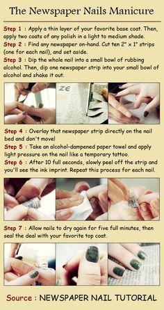 The Newspaper Nails Manicure
