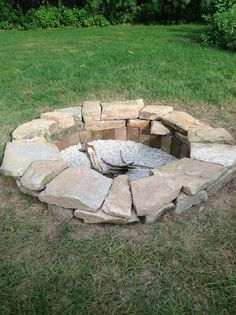 Pinterest inspired backyard fire pit