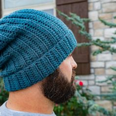 Crochet Patterns Looking for a beginner friendly beanie pattern? this Basic Back Loop beanie is for you! From newborn to adult, and easy enough for the novice crocheter. Mens Beanie Crochet Pattern, Beanie Pattern Free, Easy Crochet Patterns, Free Crochet, Crochet Hats, Free Pattern, Beginner Crochet, Crochet Videos, Crochet Dolls