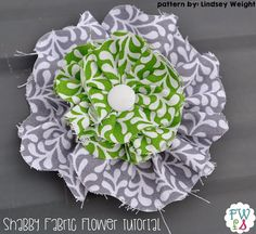 Fort Worth Fabric Studio: Fabric Flower Tutorial