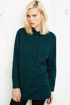 Green Tartan Style Shirt // from Urban Outfitters //