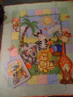 Baby Jungle Bazooples Quilt with matching by PrettyCraftybyLinda, $42.95