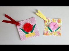 【折り紙】カーネーションのタグカード Tag card of the carnation - YouTube